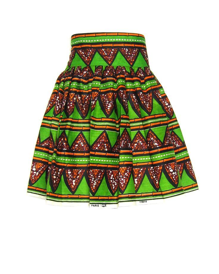 Fair Trade African Print Ruched Skirt