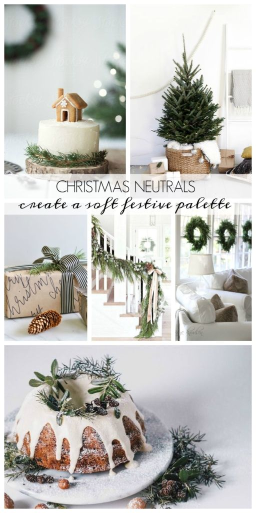 christmas neutrals create a soft and festive palette - Christmas Decorations Pinterest