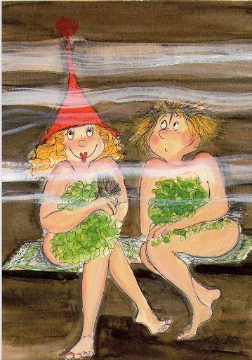 "Saunahattu?"" (Sauna hat?) Virpi Pekkala"