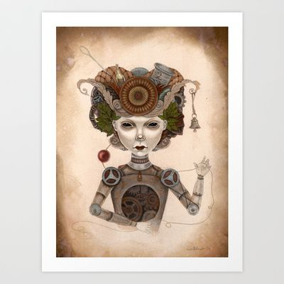 #8 Art Print by Linsay Blondeau  - $17.68