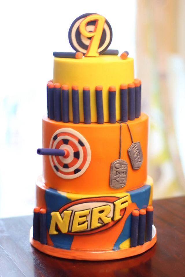 Best 25 Nerf Gun Cake Ideas On Pinterest Boys Birthday