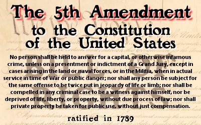5th Amendment to the U.S. Constitution. The government may not force U.S. citizens to testify against themselves in court.