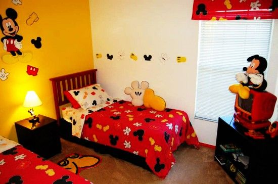Mickey Mouse Rooms Kids Bedroom With Two Beds Toddler Ideastoddler