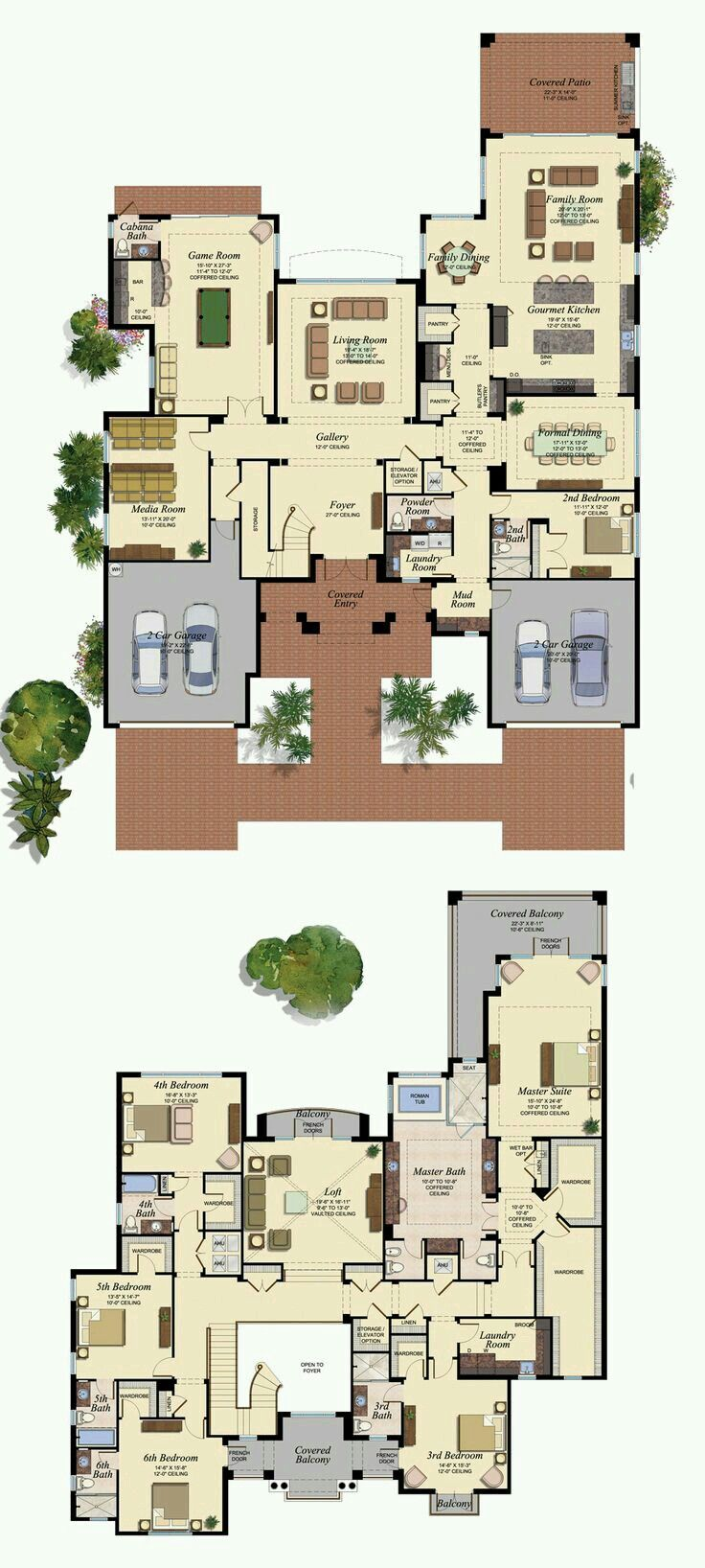2 storey house plan - bedroom 2 as study