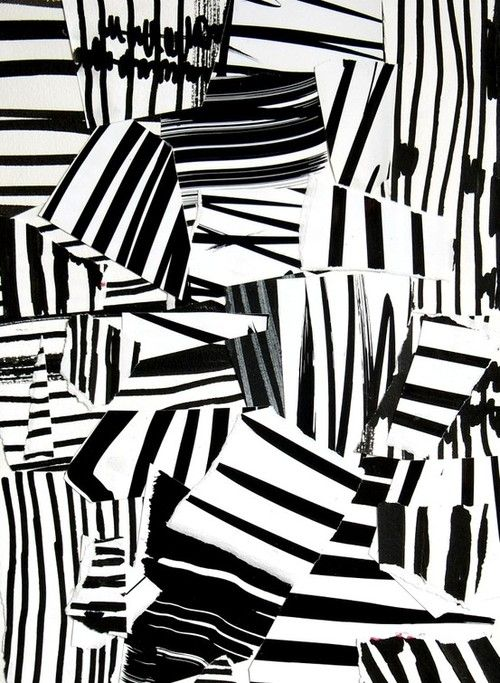 Monochrome Print Design - mark making; pattern collage // Laurent Koller
