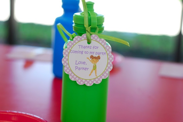 better than i could have imagined: gymnastic party favor idea (and more good ideas on the blog)