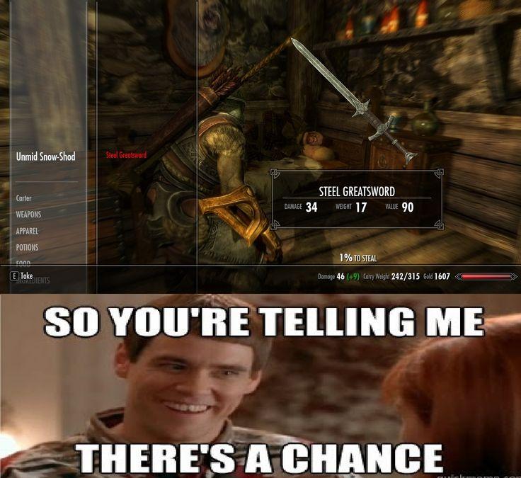 Skyrim and Pickpocketing via reddit user ifajig1