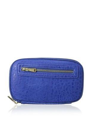50% OFF co-lab by Christopher Kon Women's Pebbled Zip-Around Wallet, Cobalt