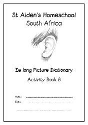 long E - Alphabet Picture Dictionary Workbooks/Activity Books, Freebies, download one or download all #Homeschool #education