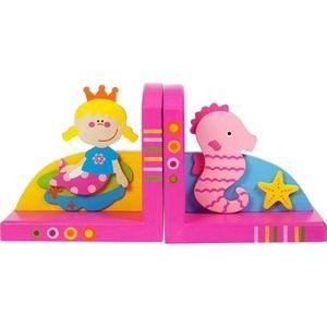 Wooden bookends. Nella mia cameretta una sirena e un cavalluccio marino sorreggono e sorvegliano i miei libri preferiti. E forse, quando quando dormono li aprono, li sfogliano e me li leggono... Acquistabile su http://www.giochiecologici.it/p/8/reggilibri-sirena