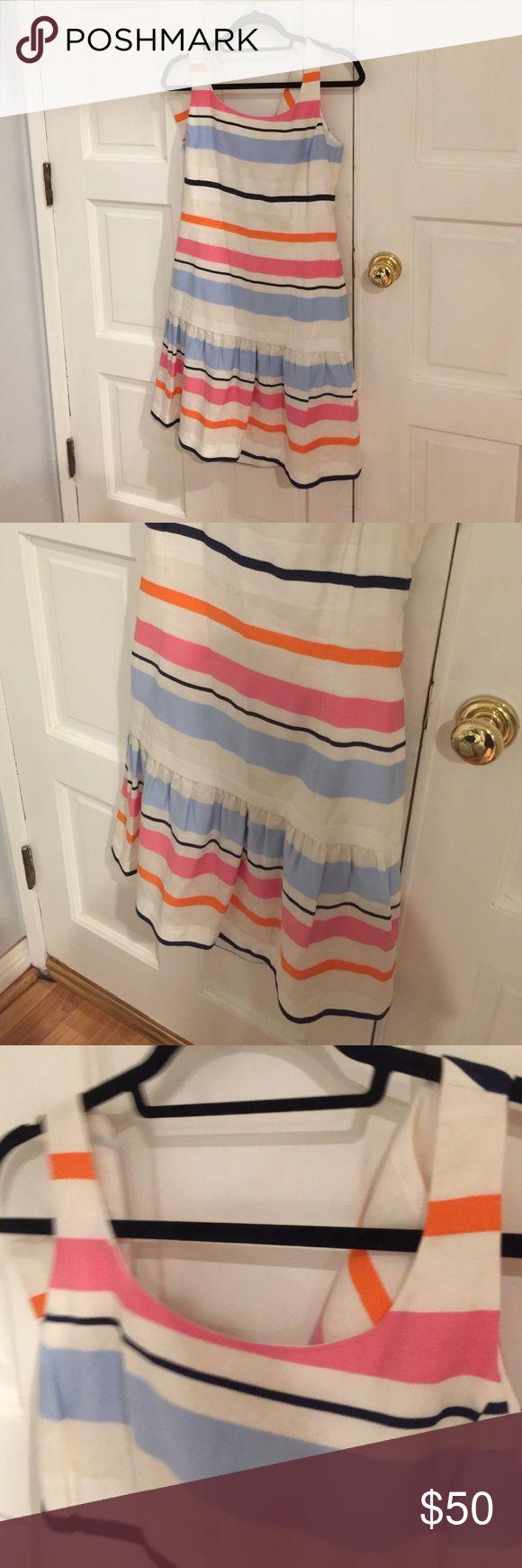 Striped drop waist dress Worn once J.mclaughlin Dresses