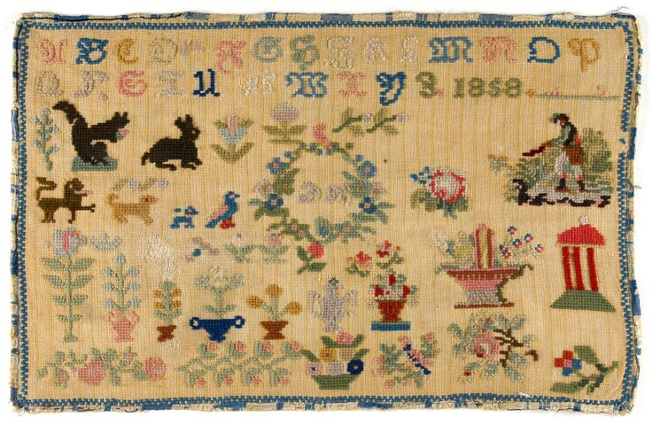 A 19th Century GERMAN Sampler Dated 1858 ~ Philadelphia Museum