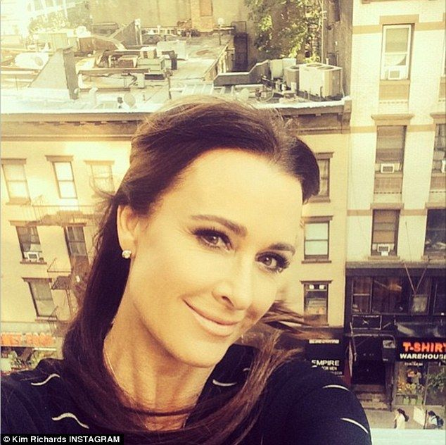 Fresh eyes: Kyle Richards revealed in an Instagram selfie post on Thursday that she has suffered from an eye condition and is treating it with a product she is now a spokeswoman for