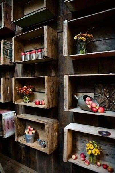 1000 images about diy with pallets crates hout on for Como remodelar una cocina