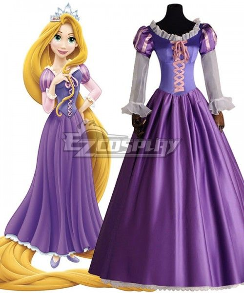 7e53d8e3a Disney Tangled Rapunzel Princess Purple Dress Cosplay Costume - B Edition # Rapunzel, #Princess