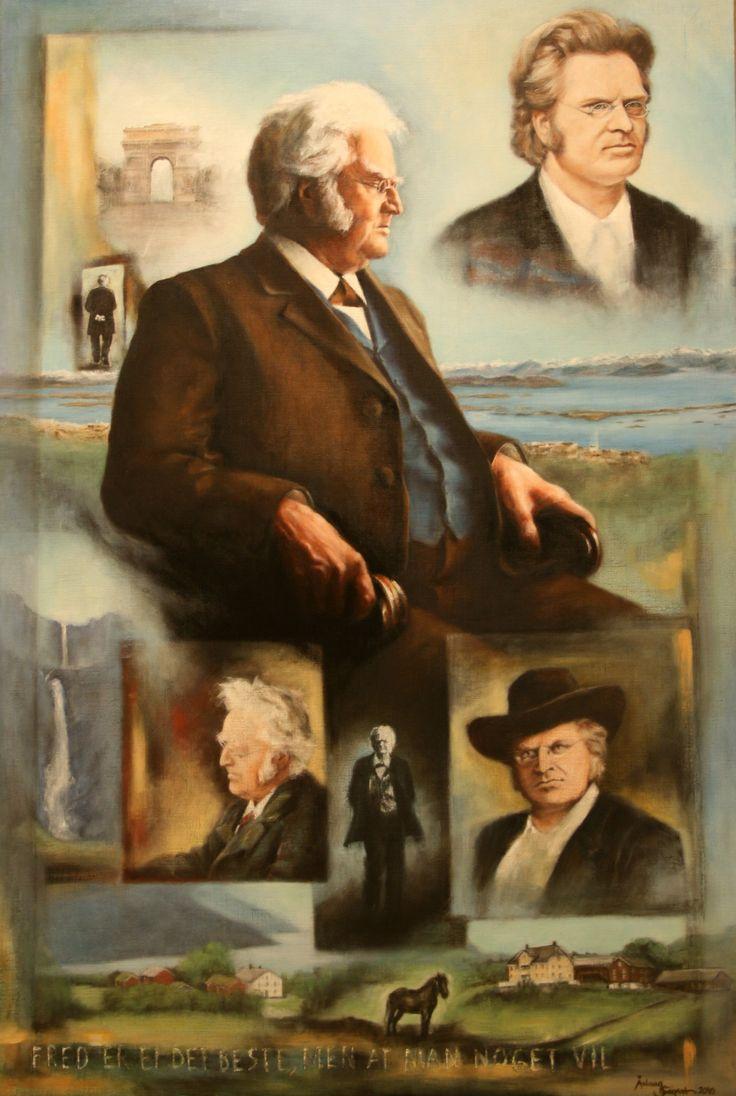 Bjørnstjerne Bjørnson, great Norwegian poet,   oil on  linen
