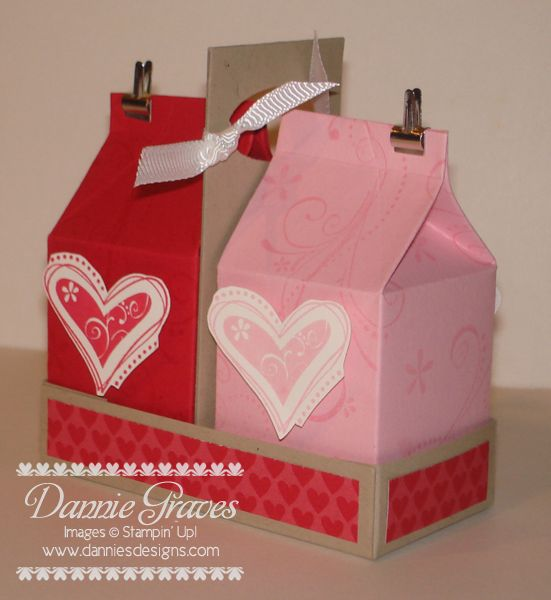 Valentine Milk Carton Set by DannieGrvs - Cards and Paper Crafts at Splitcoaststampers