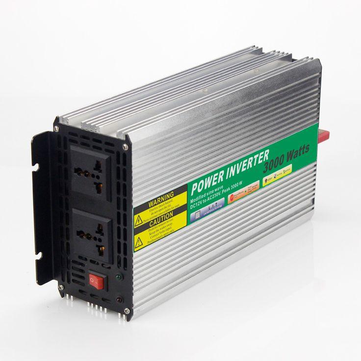 12VDC 3000W Modified Sine Wave AC 110V or 220V  Car Power Inverter Converter Power Solar inverters Off grid tie system #Affiliate