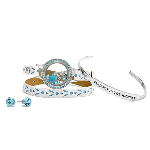 Get wrapped up in joy this February with this exclusive bracelet and earring set from Origami Owl. It's only available for hostesses and only in January. My job is to help you earn it!
