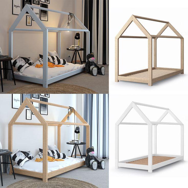 VICCO Kinderbett 90x200cm Kinderhaus Kinder Bett Holz Haus Spielbett Hausbett | Möbel & Wohnen, Kindermöbel & Wohnen, Möbel | eBay!