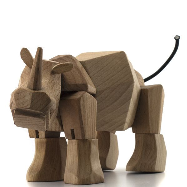 Awesome Cool Toys : Rhino wood toy named simus toys and rhinos