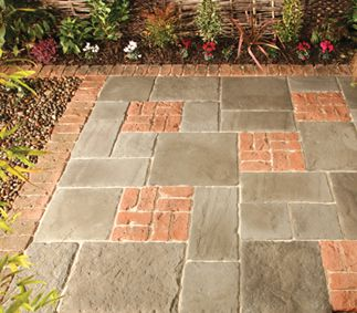 LONSTONE high quality concrete paving with the appearance of reclaimed natural stone paving