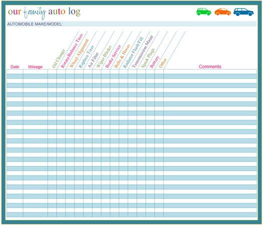 8 best Car Maintenance Printables images on Pinterest   Cars, Auto ...