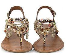 Gratis verzending! fashion casual zoete diamant kralen knijpen platte sandalen bohemen sandalen vrouwelijke sandalen maat: 35-40(China (Mainland))