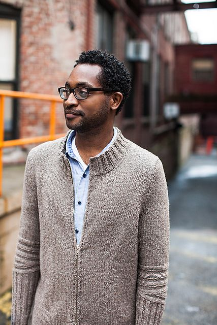 I know a very handsome man who would look very smart in this knit.  Chicane pattern by Cookie A