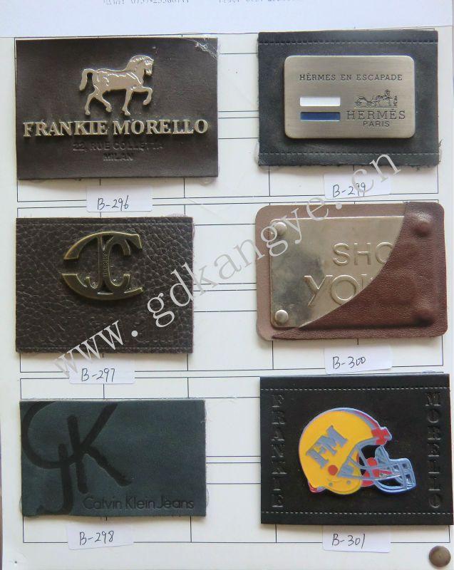 Metal logo patch, patches de couro para jeans, patch de couro com metal a-471