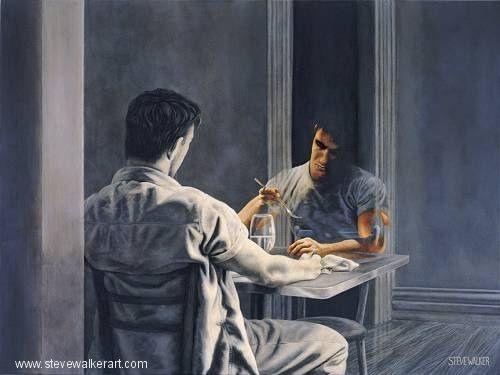 Painting by Steve Walker (1961 - 2012) Canadian