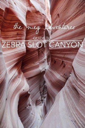Guide to Zebra Slot Canyon