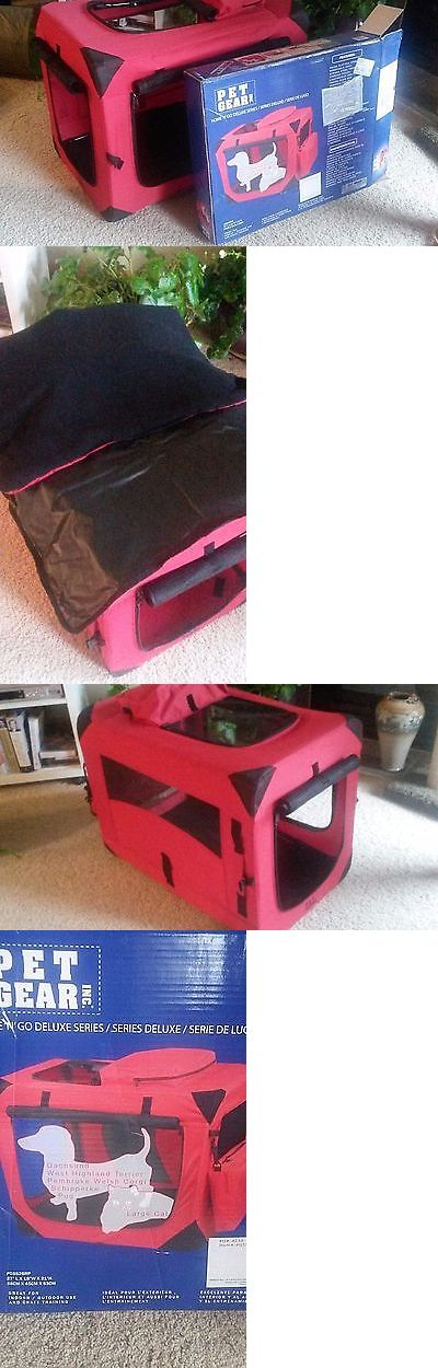 Carriers and Crates 116362: Pet Gear Generation Ii Deluxe Portable Soft Pet Crate Carrier Pg5526rp Red Small -> BUY IT NOW ONLY: $89.99 on eBay!