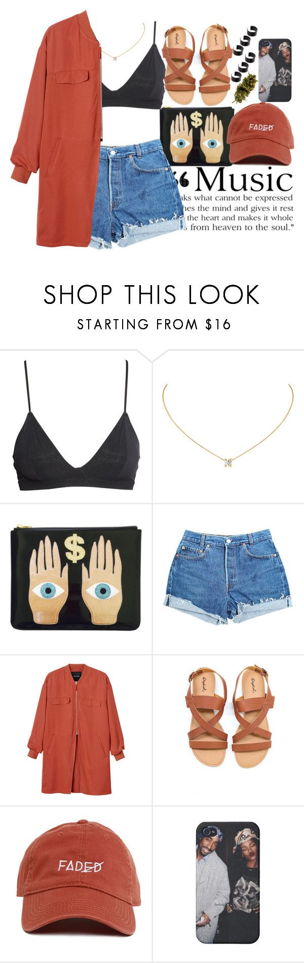 """I Love Spring ⛅"" by monroemaree ❤ liked on Polyvore featuring H&M, Aime, Levi's, Monki and ASOS"