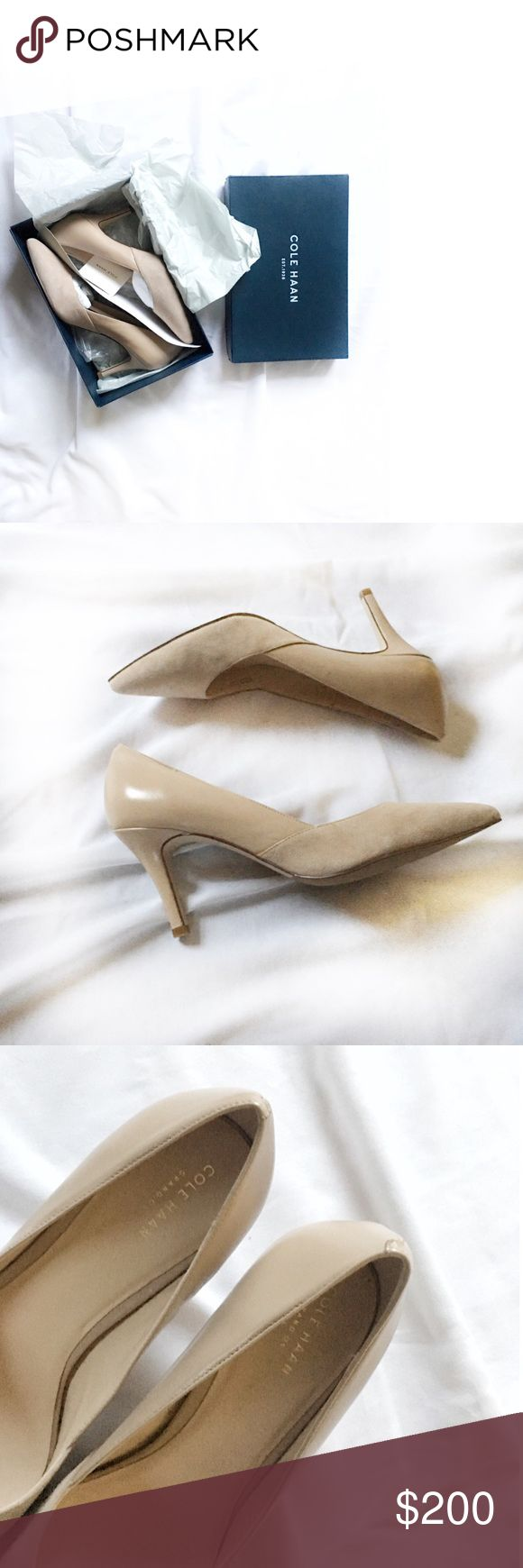 """Rose Nude COLE HAAN Maple Sugar Kyle Pump II Always Authentic🌸 Cole Haan 3"""" heel Kyle pump in nude """"maple sugar"""", size 10B. Brand new! Beautiful and comfortable edition to your closet essentials! Tonal suede and smooth leather. *I personally style all pics* NO TRADES EVER! Bundle & save even more✅ Cole Haan Shoes Heels"""