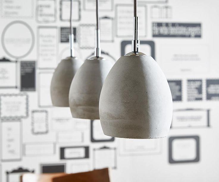 Hängeleuchte Cirillo 70x15 Grau 3 Schirme Beton Optik