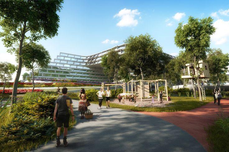 Esfera City Center: la primera obra residencial de Zaha Hadid en México,Cortesía de Zaha Hadid Architects