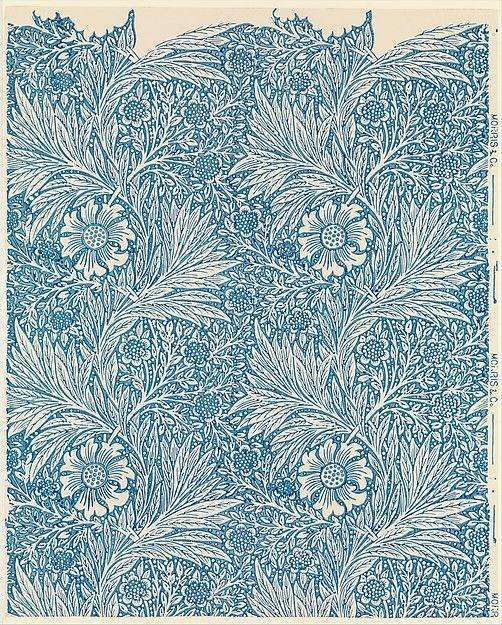 Marigold block printed wallpaper - William Morris (1875)
