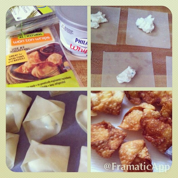 explore cream cheese wontons