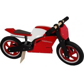 Rood-witte Kiddimoto superbike loopfiets    Steel de show met deze fantastische MotoGP superbike replica, gebaseerd op de echte racemotoren.  Met deze loopfiets ontwikkel je razendsnel een goede balans, coördinatie en motoriek waardoor de overstap naar de echte fiets haast vanzelf gaat.  Deze superbike is een stoer, orgineel en leerzaam kado waarmee bij ieder kind een lach op het gezicht getoverd wordt.
