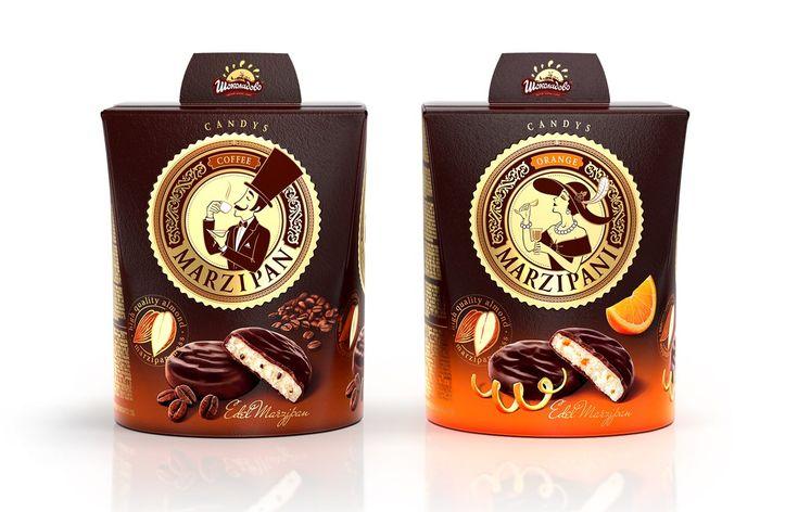 Марципан и Марципани – дизайн упаковки конфет от студии Акима Мельника