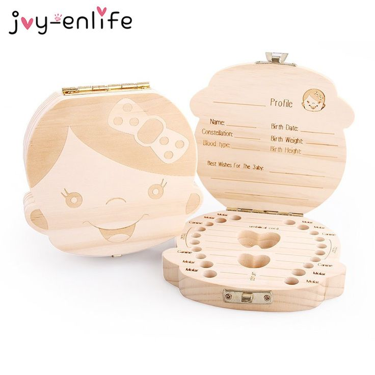 1pcs Wooden Tooth Storage Box Baby Save Milk Teeth Great Creative Gifts For Kids Boy and Girl Image Birthday Gift Baby Shower
