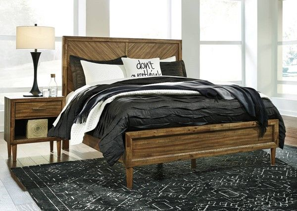 Ashley Furniture Broshtan 2pc Bedroom Set With King Panel Bed In