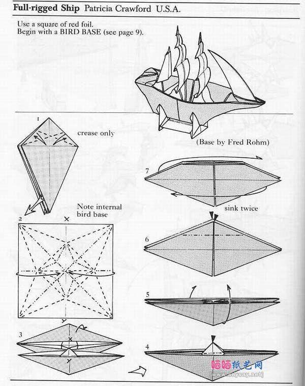 origami sailing boat 1 origami amp paper art pinterest