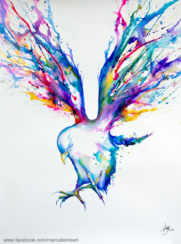 Marc Allante's Stunning Prismatic Art - This would be a beautiful tattoo. Not crazy about birds, but dig this look...