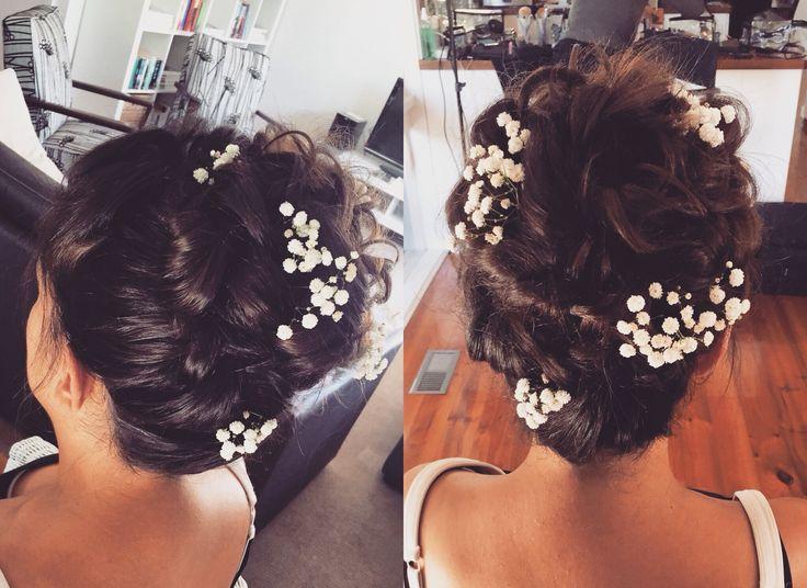 Textured curly high bun by Jodie bridal hair, flowers, wedding