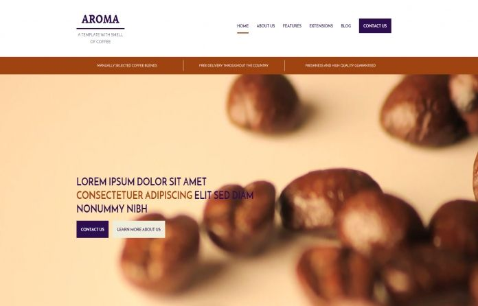 Hot Aroma - #multipurpose #Joomla #template focused on #Coffee category