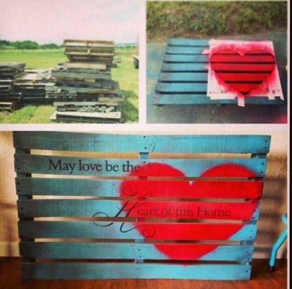DIY Upcycled wood pallet decor