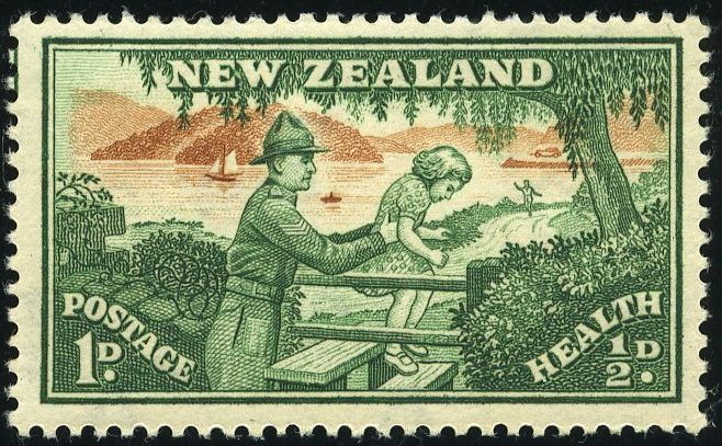 King George VI Postage Stamps: New Zealand 1946 (24 Oct) Health Stamps SG678/679