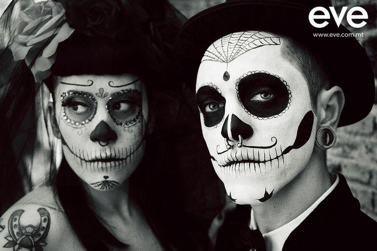 skull gangsters #evemalta #halloween #makeup